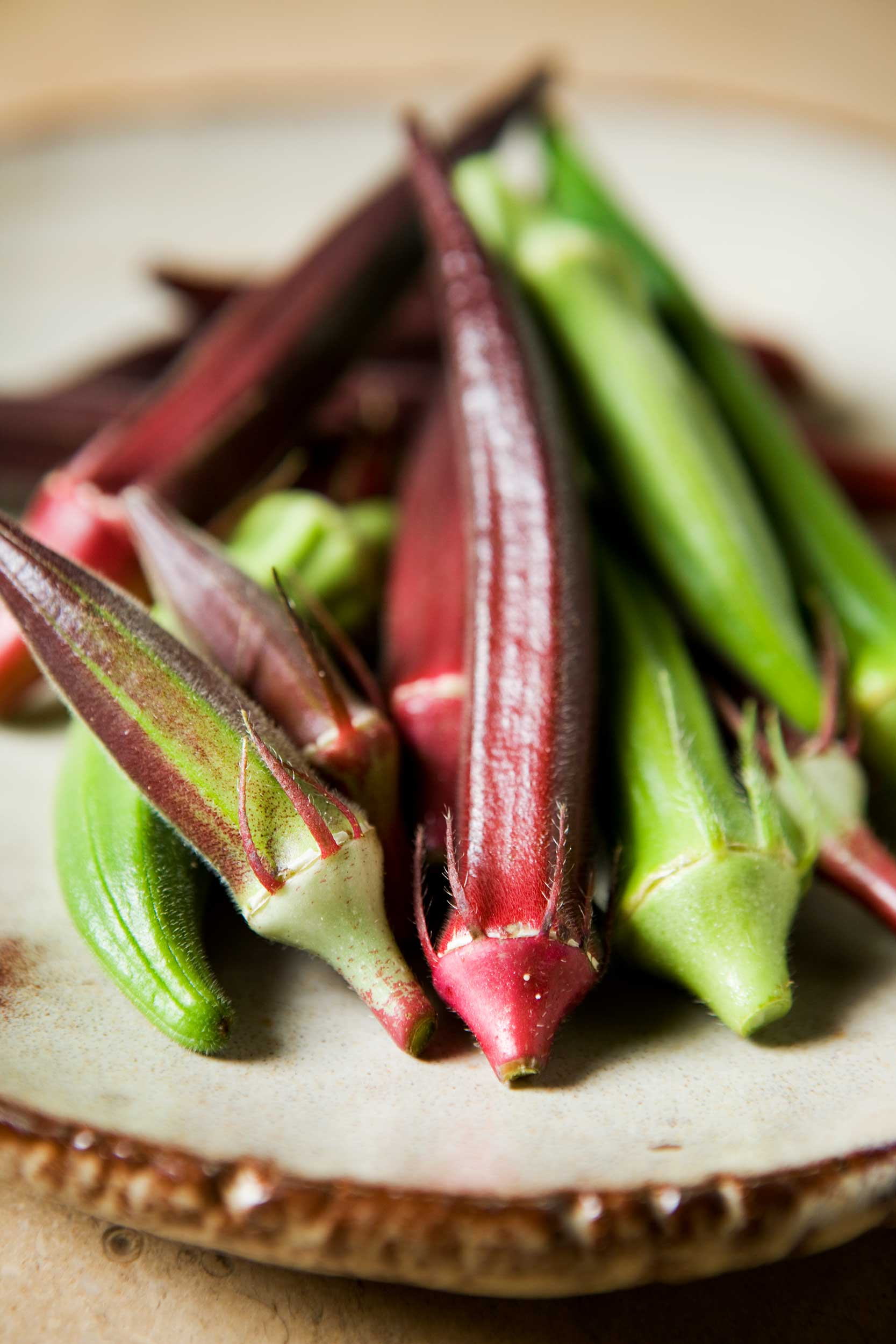 vertical-shot-of-colorful-okra